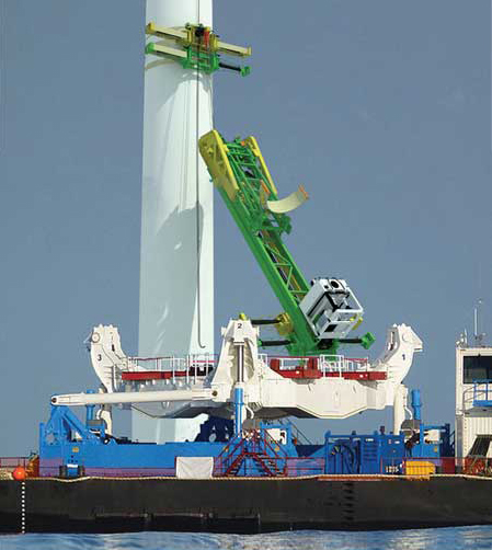 A Flexible, Craneless System for Wind Turbine Installation and Maintenance