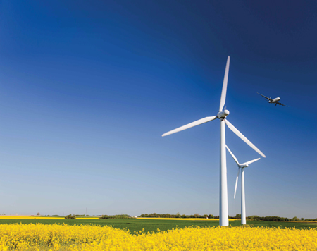 Larger Wind Farms, Smaller Signature
