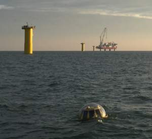 Triaxys wave buoy at Rampion wind farm