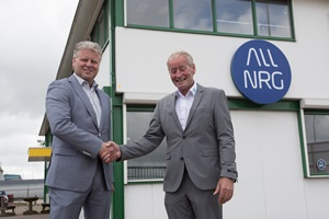 Peter Geertse, North Sea Port, welcoming Jan Nielsen, Sales Manager - Operations, ALL NRG