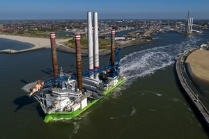 Rentel starts with installation of 42 wind turbines in the North Sea