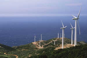 Antia windfarm in Greece