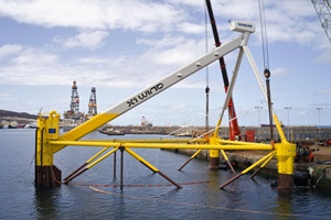 X1 Wind prepares PivotBuoy floating wind platform for Canaries deployment