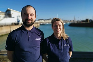 Nicolas Lariviere-Gillet (left) and Ninon Crusson join Akrocean