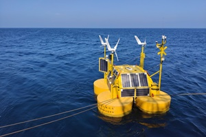 Floating LiDAR buoy deployed for Shells and CoensHexicons offshore wind project in South Korea
