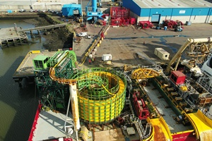 Global Offshore installs new cable carousel at the Port of Blyth UK