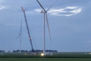 Harvest Ridge wind farm installation completed by Global Wind Service
