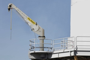 Palfinger wind crane installed at offshore wind farm