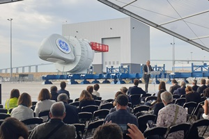 Production of the first nacelle for the first French offshore wind farm at Saint Nazaire