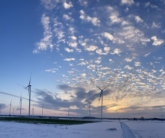 #10 Siemens SWT 3.3-130 turbines operating in 3.6MW power mode at Windpark Damme, Germany (Courtesy Rosalie Hehlke)