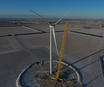 #19 Siemens turbine installed at NorthKent Wind Farm, Ontario Canada (courtesy Doug Smith)