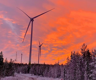 #2 Enercon E138 EP3 E2 turbines installed at the Markbygden 2 wind farm near Pitea municipality in northern Sweden (courtesy Andrei Batcu)