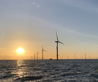 #8 Siemens Wind Power SWT 3.6 120 turbines installed at the London Array Wind Farm 20 kilometres off the North Foreland on the Kent coast South East England. courtesy (Chris Scrutton DLM)